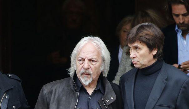 Le chanteur Gérard Palaprat aux funérailles de Frank Alamo, le 18 octobre 2012 à Paris afp.com/François Guillot